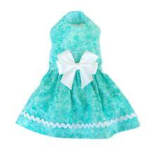 New ListingSummer Turquoise Dog Dress Little Doggie Clothing Small Dog Teacup Size Xxxs