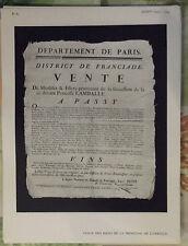 1794 Vente des Biens de la Princesse de Lamballe /  1952