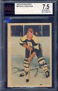 1953 Parkhurst Hockey #85 Dave Creighton BVG 7.5
