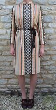 Rare Vintage Wool 60s Mid Century Retro Scandinavian Embroidered LS Dress L  14
