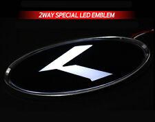 White Red 2Way LED Rear Trunk K Logo Emblem 1EA For 2013+ Hyundai Santa Fe Sport