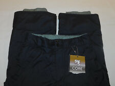 NEW RIPZONE CORE SKI SNOW PANTS INSULATED CARGO ADJUST WAIST BLACK BOY'S M 10 12