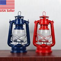 10'' Retro Style Oil Lantern Outdoor Camp Kerosene Paraffin Hurricane L