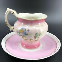 Antique Maddock's Lamberton Works Royal Porcelain Pink Maple Syrup Pitcher