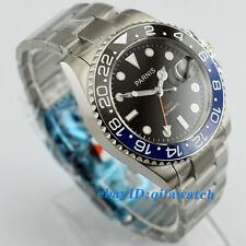 2173 Parnis 40mm Sapphire GMT Ceramic Bezel Black Dial Automatic Men's Watch