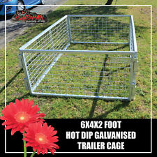 TRAILER CAGE 6X4X2FT.  FULLY GALVANISED. BOX TUBING! SMART LOCK IN SYSTEM