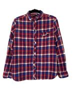 BDG Women's Plaid Flannel Red White Blue Size M  Button Down Urban Outfitters