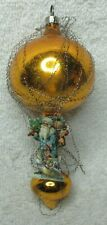 New Listingantique double ball tinsel and Santa card Christmas tree ornament