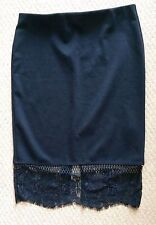 River Island Knee Length Lace Patternless Skirts for Women
