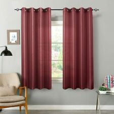 Curtains Bedroom Light Reducing for Living Room Satin Drapes Grommet Top 2Panels