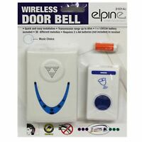 High Quality Wireless Cordless Door Bell 80m Range Single Set 36 Melodies Chimes