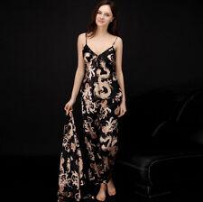 Luxurious Ladies Womens Set of 3 Oriental Golden Dragons Pyjama Pajama ladpj110