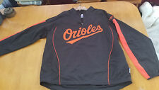 Baltimore Orioles Mens Majestic Pullover windbreaker jacket Orioles Logo XL
