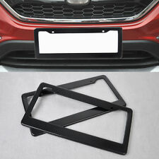 Hot 2x JDM Front Rear Carbon Fiber Look USA License Plate Frame Tag Cover Holder