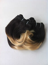"Brazilian Remy Human Hair 1B-27 Ombre 8"" Short Hairstyles & Bangs 135G (6 Pcs)"
