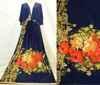 New Women Dark Blue Kimono Party Cocktail Maxi Dress Plus Size 3XL 4X18 20 22 24