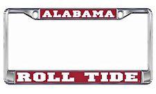 """Alabama Crimson Tide """"Roll Tide"""" Chrome License Plate Tag Frame, Domed"""