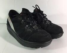 MBT Sport 04 Mens 7 Black Suede Leather Lace Up Sneakers Shoes Rocker