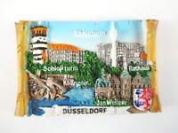 Düsseldorf Imán Alforjas Viajes Recuerdo Germany Rheinturm Koe Pozo Ayuntamiento