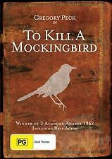 TO KILL A MOCKINGBIRD DVD 1962 New & Sealed Region 4 DVD Gregory Peck Not Novel