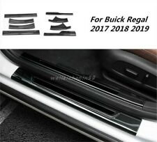 Black titanium Welcome Pedal Door Sill Scuff Trim For Buick Regal 2017 2018 2019