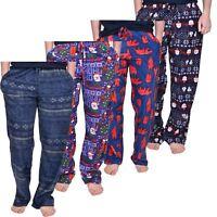 Ladies Pyjamas Lounge Pants Fleece Bottoms Christmas Mens Nightwear Unisex Lot