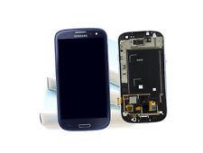 Original SAMSUNG Galaxy S3 Blau i9300 LCD Display Rahmen Bildschirm Frontglas
