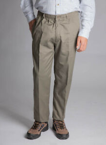 Mens Jolliman Thermal Lined Easy Pull on Cotton Trouser Elasticated Rugby