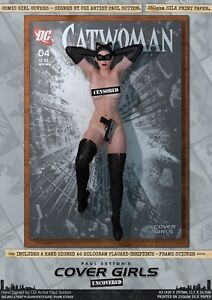 Catwoman Anne Hathaway TDKR Pin-Up Sexy Cover Girls A3 Signed DC Comic Art Print