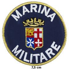 Toppa MARINA MILITARE italiana uomo patch ricamata termoadesivo per vestiti