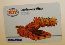 JOY GLOBAL (KOMATSU) Mining Equipment Stickers