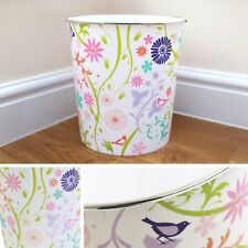 NEW Modern Floral Waste Paper Bin Pattern Colourful Basket Home Office Nature