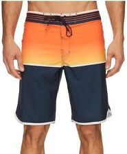 Billabong FIFTY50 X Mens Polyester Stretch Boardshorts 32 Orange NEW