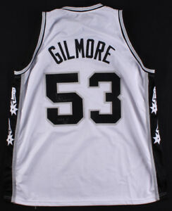 Artis Gilmore Signed White San Antonio Spurs Jersey (Leaf COA) Inscribed HOF 11