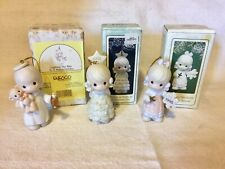 Lot of 3 Precious Moments Christmas Ornaments in original Box 1994 & 1995