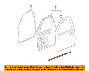 GM OEM Front Door-Lower Weatherstrip Weather Strip Seal Left 20835970