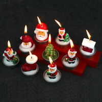Christmas Candle 3 Pack Decorative Santa Claus Candles Tealight Set for Party