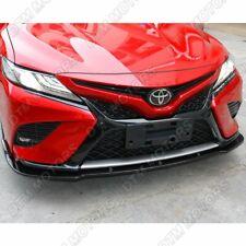 For 2018-2020 Toyota Camry Matt Black Front Bumper Body Kit Spoiler Lip 3PCS