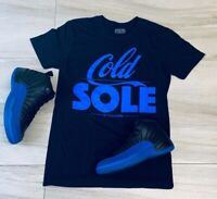 Tee to match Jordan Retro 12 Game Royal. Cold Sole Tee