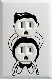 PICK COLOR Wall Outlet Sexual Vinyl Decal Stickers Funny Humor Decoration
