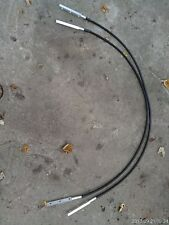 7Eee73 Pair Of Cables: Vinyl Over Steel Cable, With Machined Aluminum Ends, Gc