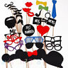 Party Photo Booth Birthday Wedding Props On A Stick Masks Moustache Glass Frame