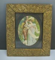 Vintage Resin Ornate Picture Frame with Couple