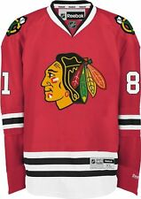 $170 NHL Chicago Blackhawks Marian Hossa Men's Color Premier Jersey Red,Medium 1