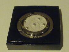 Cream and silver Circle Shaped Handbag Hanger / hook NEW