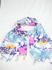 Glentex Cotton scarf Head belt wrap blue white purple pink flowers New