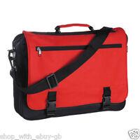 Large Messenger Satchel Shoulder Travel Work School College Bag Black / Colour