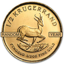 1/2 oz Gold South African Krugerrand Coin - Random Year - SKU #1016