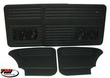 1965-1977 VW Bug Sedan Front+Rear Basic Series Door Panels w/Pockets, Black Only