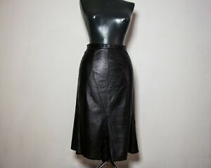 Chanel Women Leather Black Skirt Size 36 Fall 2002 Collection